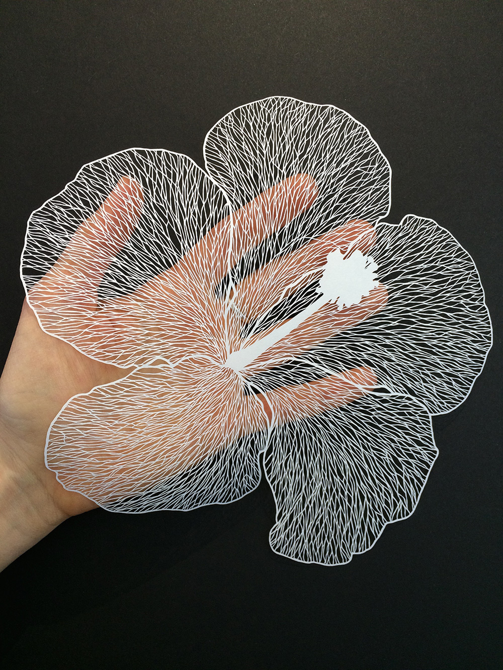 Beautiful and delicate cut paper flowers visual broadcast for Beautiful paper cutting art