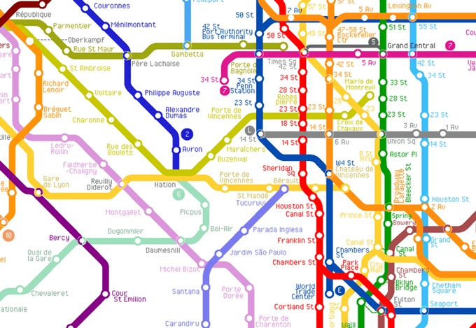 World Metro Map 3