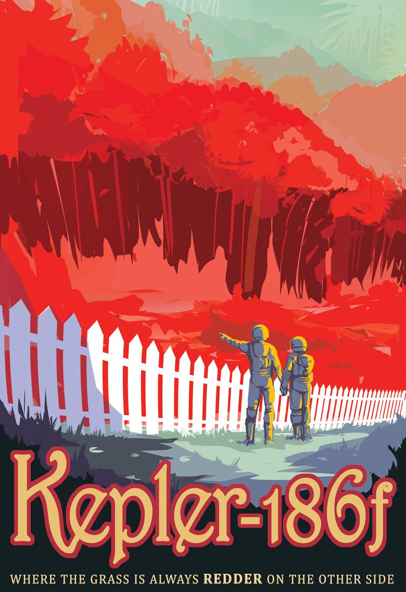 Galactic Tourist Poster - Kepler 186f