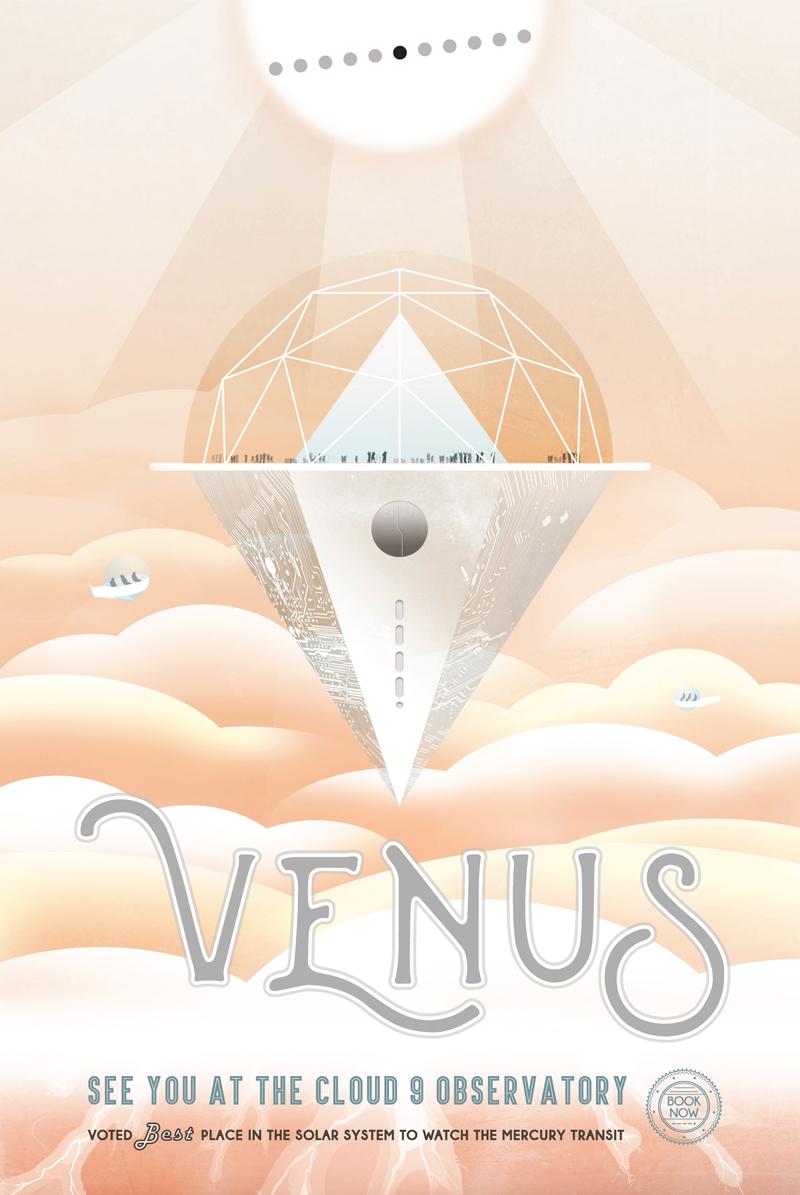 Galactic Tourist Poster - Venus